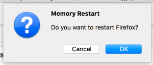Memory Restart