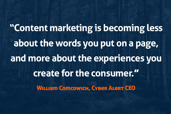 Content marketing is experiences