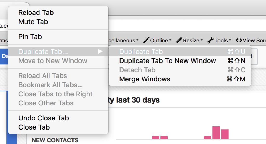 Example: Duplicate Tab